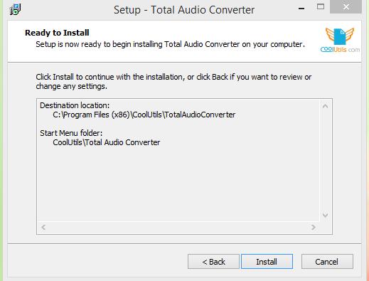 Total Audio Converter Installation Step 2