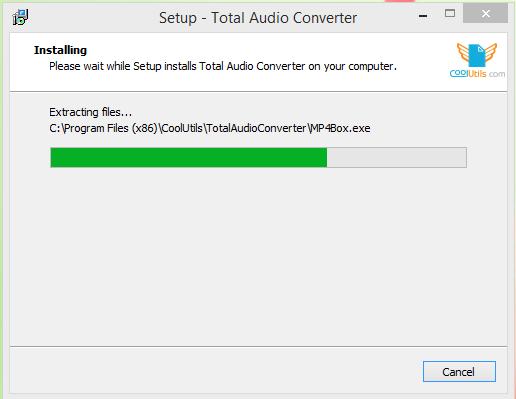 Total Audio Converter Installation Step 3
