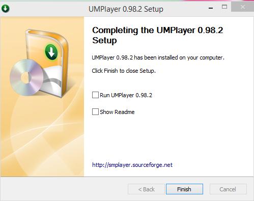 UMPlayer Installation Finish