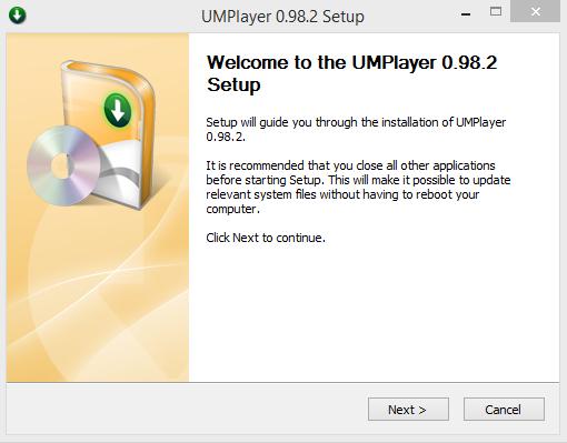 UMPlayer Installation Step 1