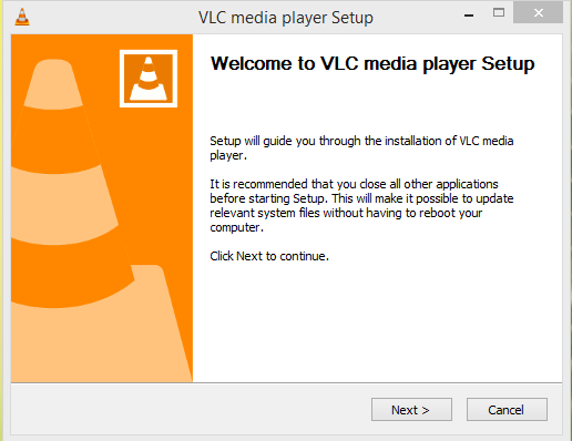 VLC Media Player Installation Step 1