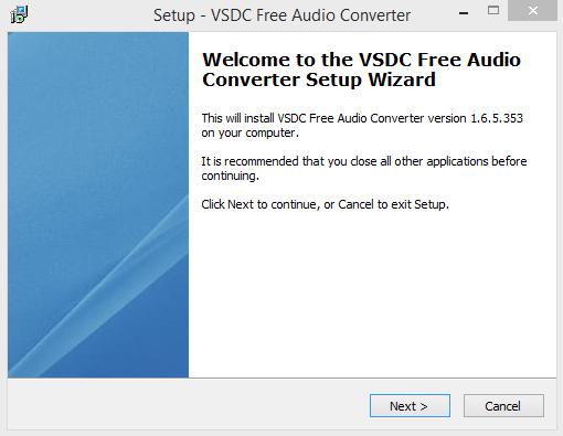 VSDC Installation Step 1