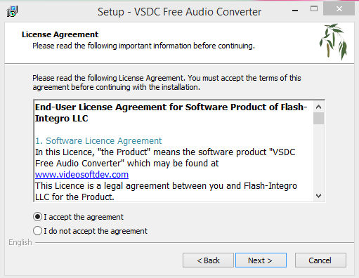 VSDC Installation Step 2