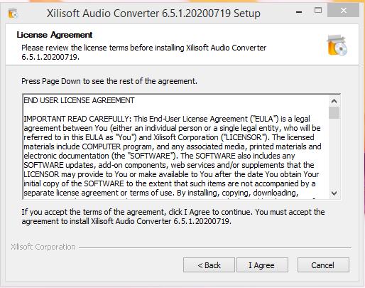 Xilisoft Installation Step 1