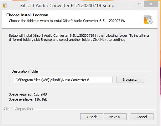 Xilisoft Installation Step 3