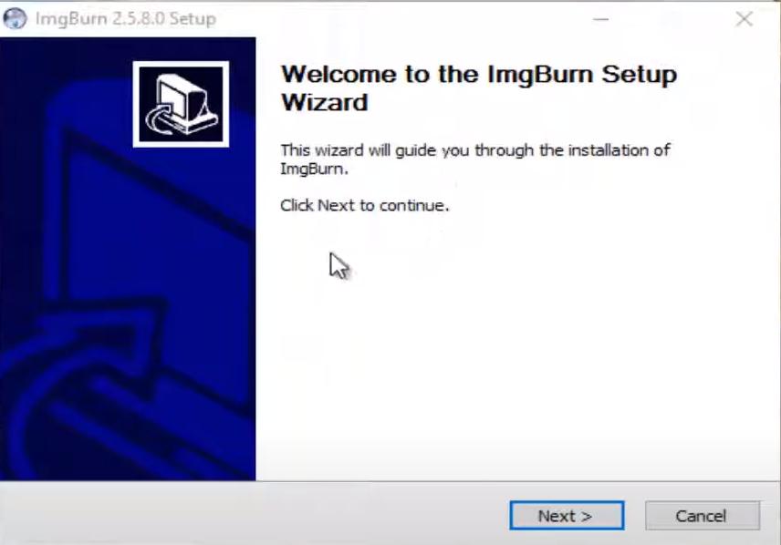 ImgBurn Installation Step 1