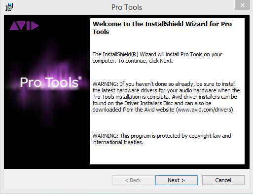 Pro Tools Installation Step 1