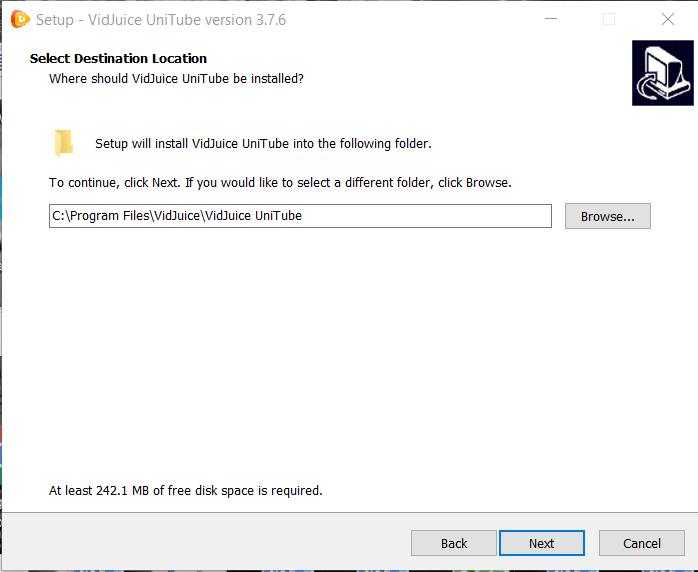 UniTube Video Downoader Installation Step 2